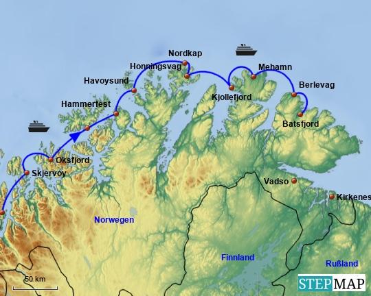 10. Tag Hurtigrute Batsfjord