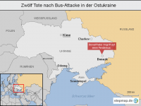 Zw�lf Tote nach Bus-Attacke in der Ostukraine