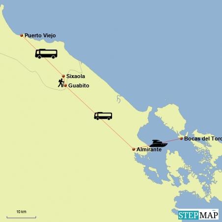 Fahrt von Puerto Viejo|Costa Rica nach Bocas del Toro|Panama