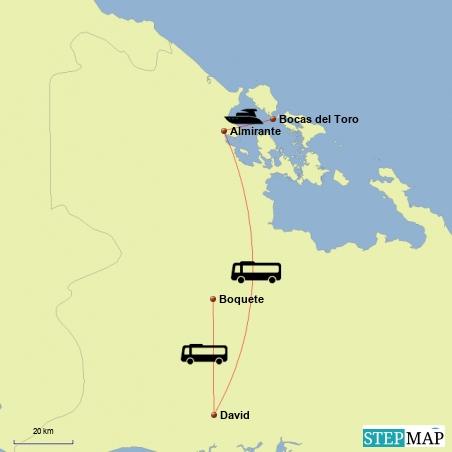 Fahrt von Bocas del Toro nach Boquete