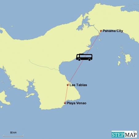 Fahrt von Playa Venao nach Panama City