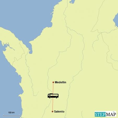 Fahrt von Medellin nach Salento in die Zona Cafetera