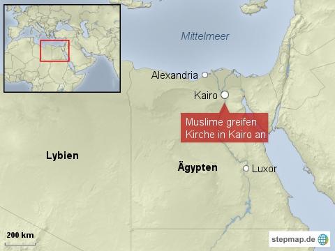 Muslime greifen Kirche in Kairo an