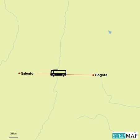 Fahrt von Salento nach Bogota