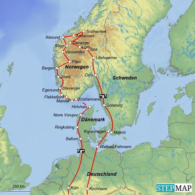 Norwegen 25.06. bis 08.08.2009