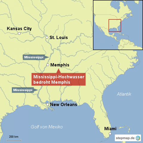 Mississippi-Hochwasser bedroht Memphis