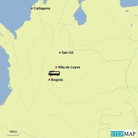 Fahrt von Bogota nach Villa de Leyva