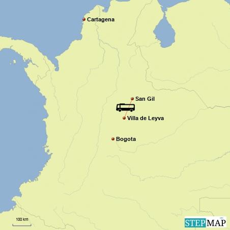 Fahrt von Villa de Leyva nach San Gil