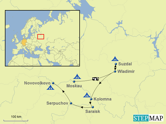 Schöne Städte im Umkreis Moskaus