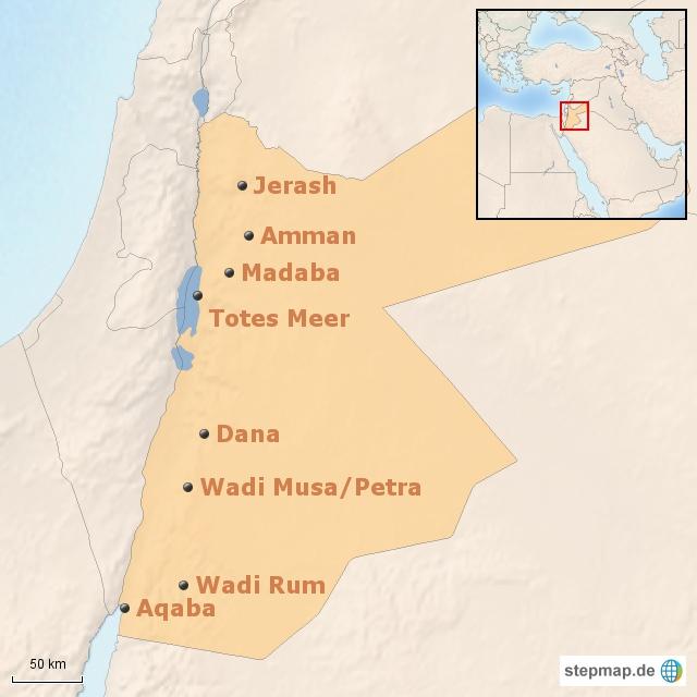 Jordanien: Regionalübersicht