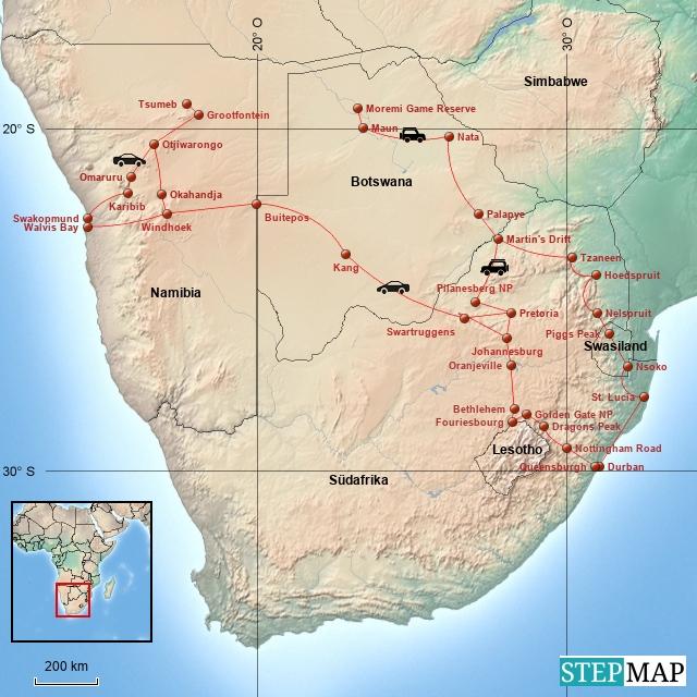 Südliches Afrika 2015