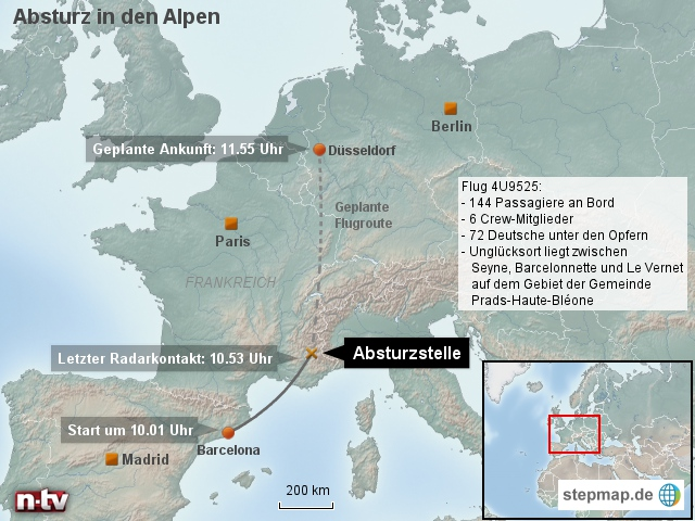 Absturz in den Alpen: Flug 4U9525