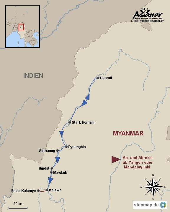 Myanmar Kreuzfahrt Das verstecke Nagaland