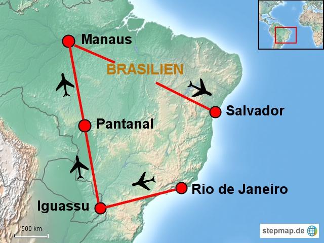 Rio-Iguassu-Pantanal-Manaus-Salvador