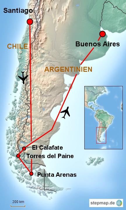 Torres del Paine and El Calafate Tour