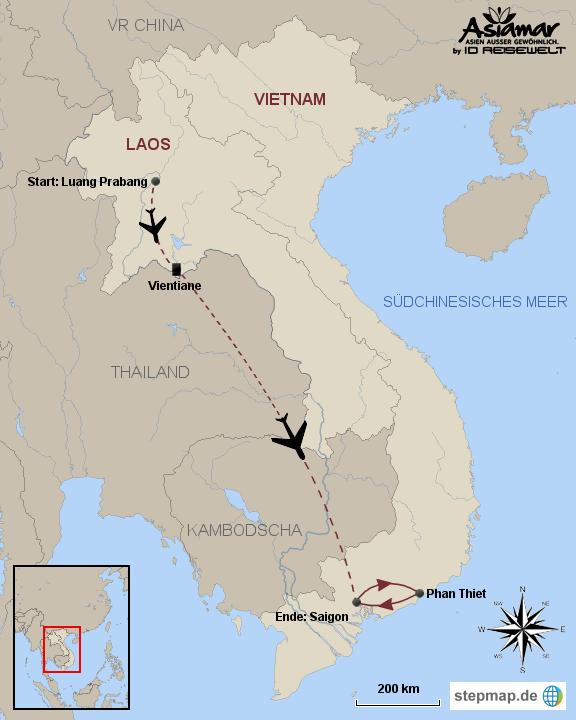 Laos Pauschalreise Individuelles Erleben in Laos und Baden in Phan Thiet