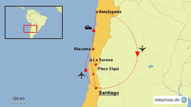 Atacama Wüste Karte.Sterne Beobachten In Chile