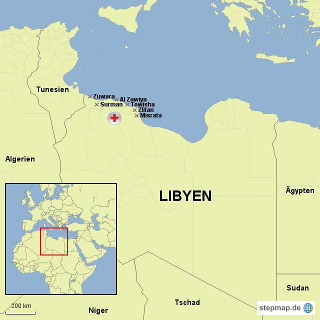 UNHCR-überwachte Migrantenlager in Libyen