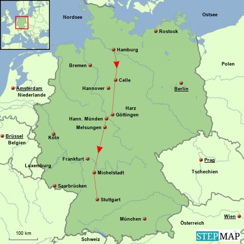Deutschland, Hamburg-Stuttgart