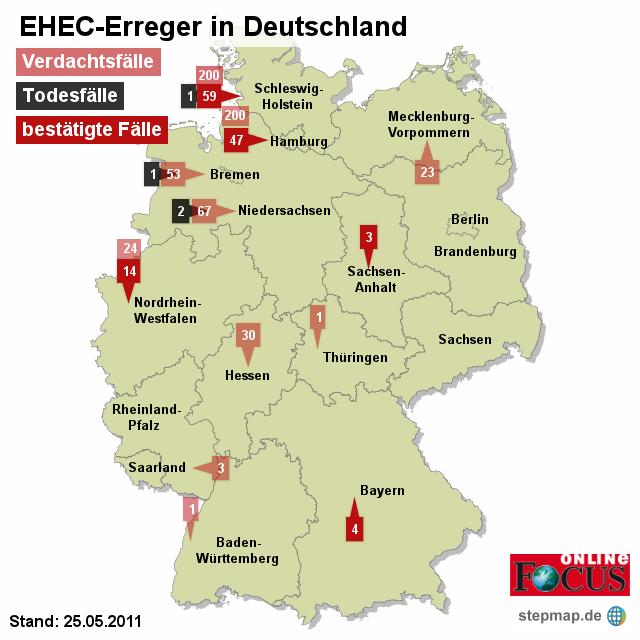 FOCUS: EHEC-Erreger in Deutschland 24.05.2011