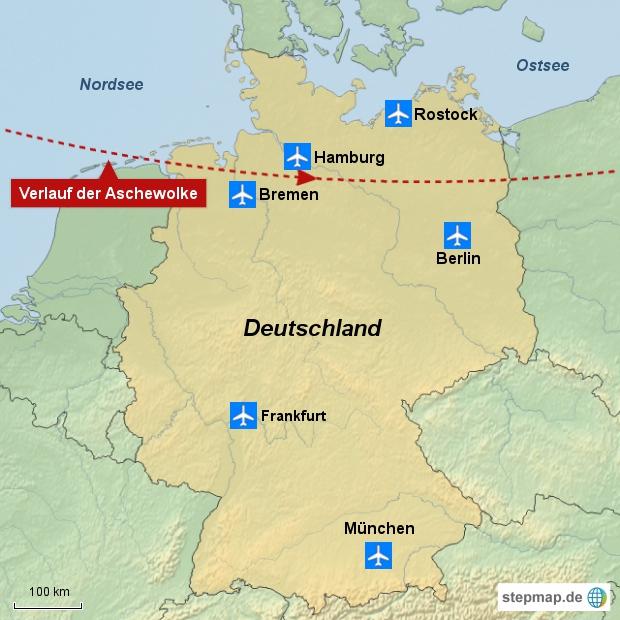 Betroffene Flüghäfen in Deutschland