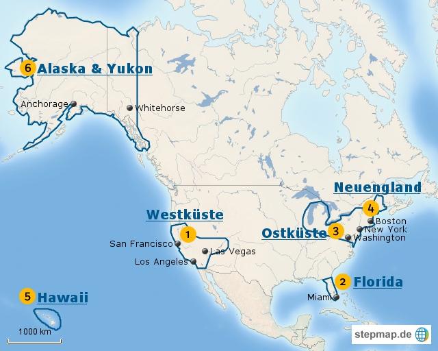 USA: Regionalübersicht