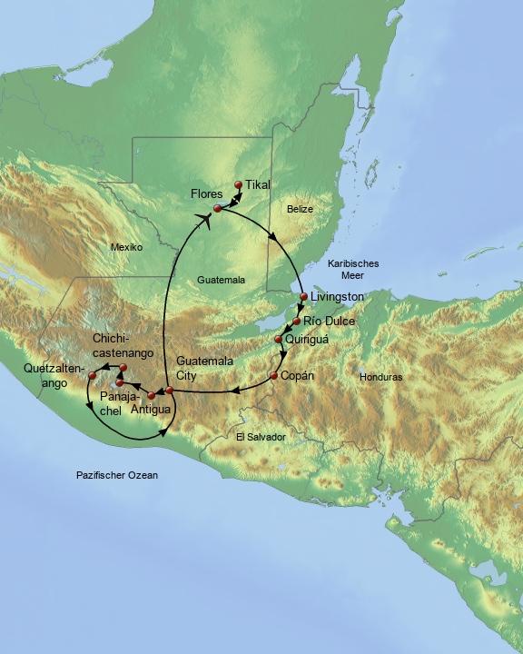 Guatemala und Copan