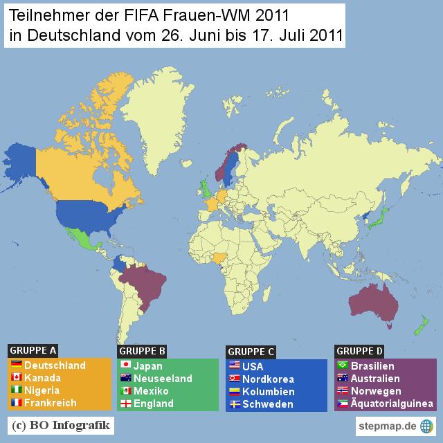 Teilnehmer der Frauen-WM 2011 in Deutschland
