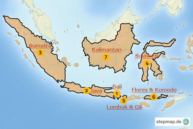 Indonesien Karte.Indonesien Karte Sehenswurdigkeiten Kleve Landkarte