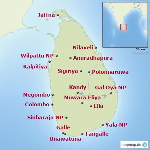 Sri Lanka-Baustein Übersicht