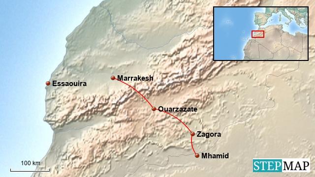 Marokko - Teil 1 --> Von Marrakesh in die Wüste