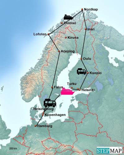 Einmal zum Nordkap und über die Lofoten zurück