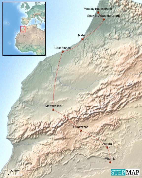 Marokko - Von der Wüste bis ans Meer