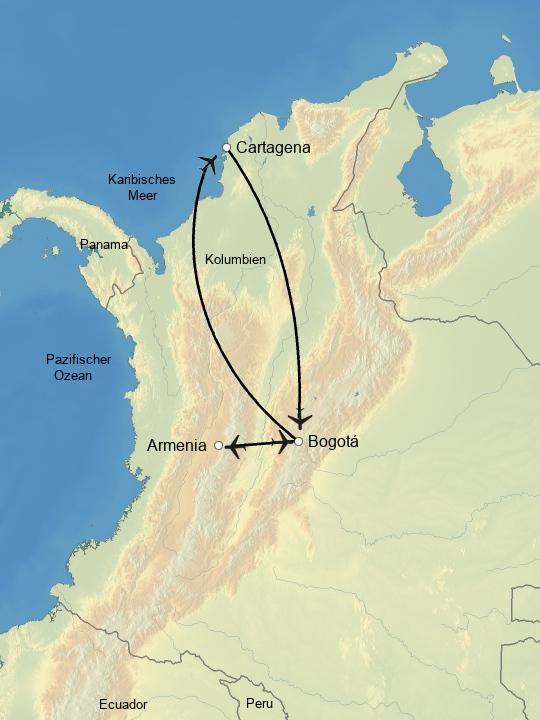Höhepunkte Kolumbiens