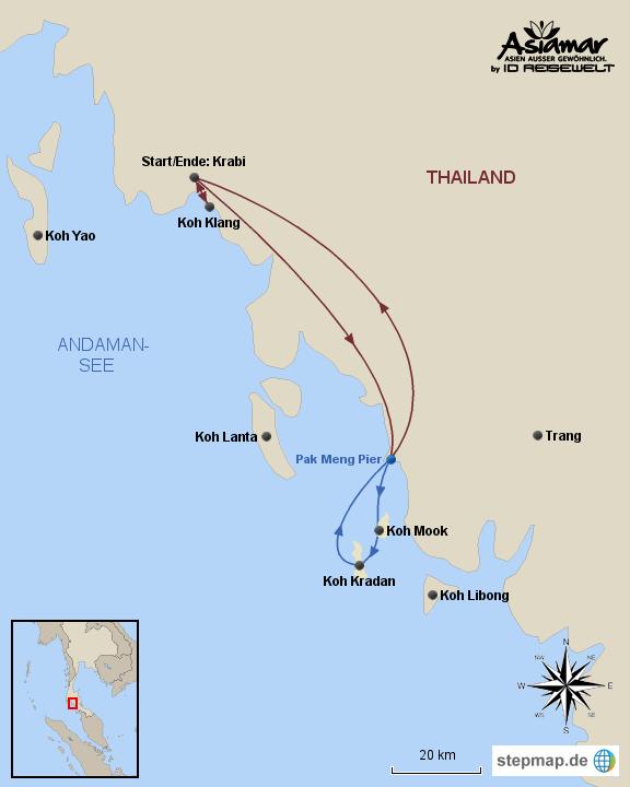 "Inselhüpfen Thailand ""InselhüpfenInselhüpfen Thailand ""Inselhüpfen Koh Klang, Koh Mook und Koh Kradan"" Homepage"