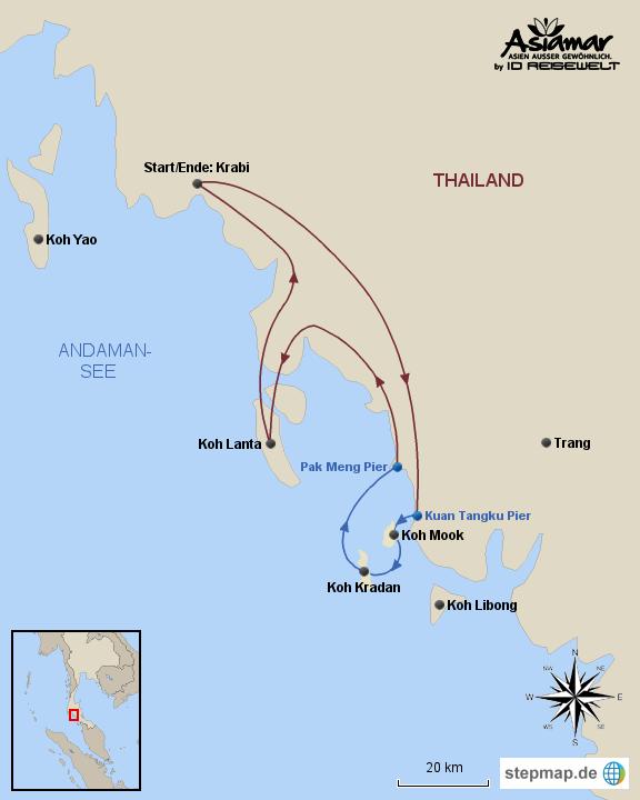 """Inselhüpfen Thailand """"InselhüpfenKoh Mook, Koh Kradan und Koh Lanta"""" Homepage"""