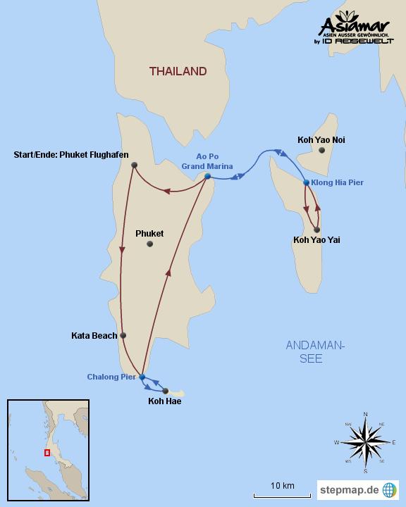 """Inselhüpfen Thailand """"Inselhüpfen Phuket, Coral Island und Koh Yao"""" Homepage"""