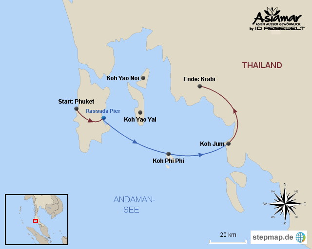 "Inselhüpfen Thailand ""Inselhüpfen Phuket, Koh Phi Phi, Koh Jum und Krabi"" Homepage"
