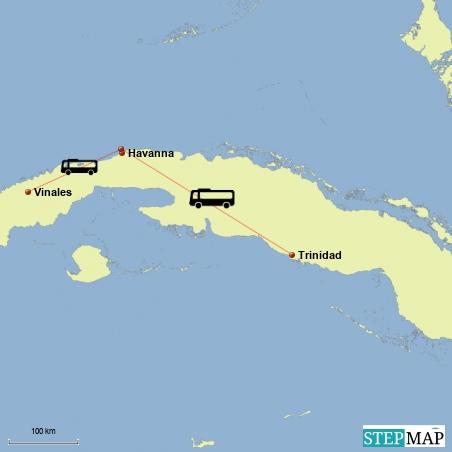 Fahrt von Vinales nach Trinidad (nicht ueber Havanna, sondern direkt nach Trinidad)
