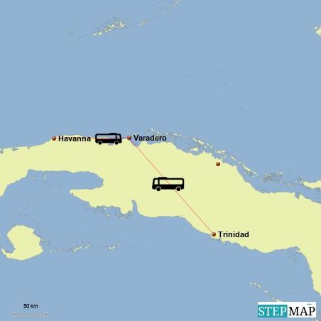 Fahrt von Trinidad nach Varadero und weiter nach Havanna