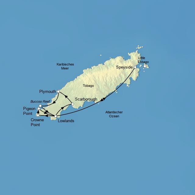 Tobago auf vier Rädern