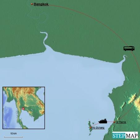 Hier ist unsere Anreise von Bangkok zur kleinen Insel Ko Sichang für die letzten Tage zum entschleunigen...