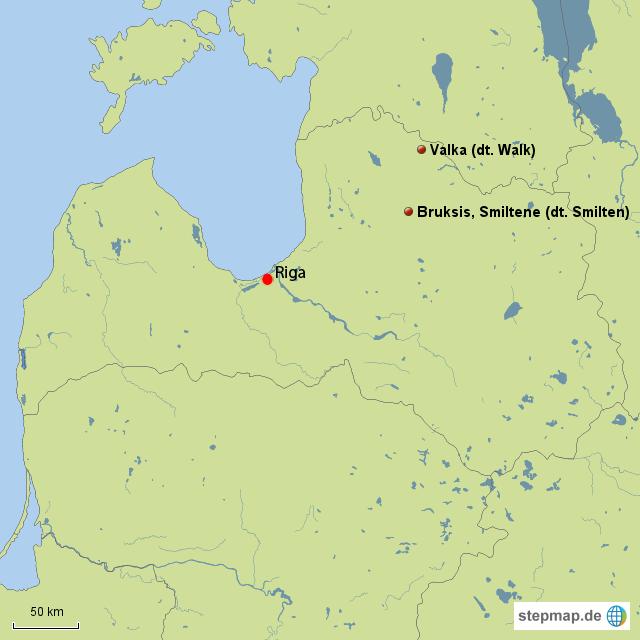 Bruksis, Smiltene, Lettland, Grablage von Franz Hassel aus Niedersaubach (Saarland)