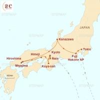Routenkarte zur Reise Von Geishas, Samurai & Sushi