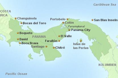 Panama Hauptkarte