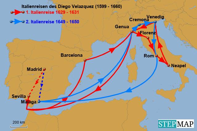 Italienreisen von Velazquez