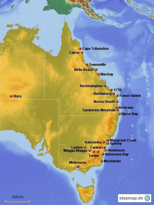 Australia until August