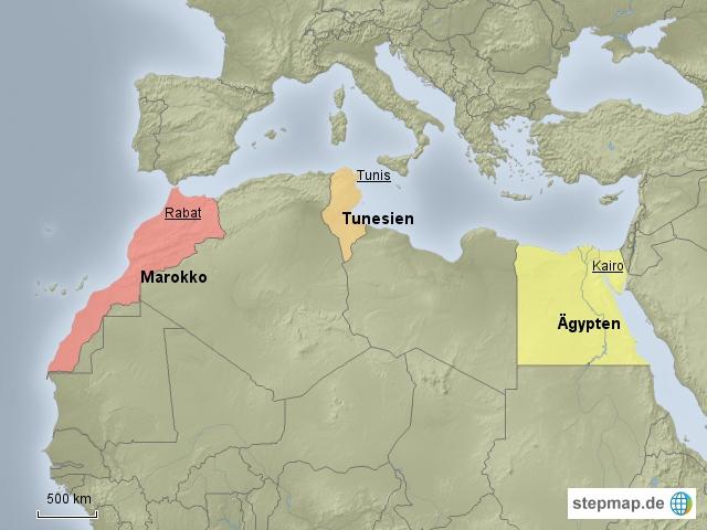 www.stepmap.de Die Verlierer der Globalisierung bilden die gesellschaftliche Mehrheit in den nordafrikanischen Staaten. Doch auch in Zukunft werden diese Staaten auch in Zukunft werden die Staaten niemals ein wirtschaftliches Niveau erreichen, das dem Standard Europas oder der Leistung der Golfstaaten genügen könnte, ist sich Dr. Naseef Naeem sicher.