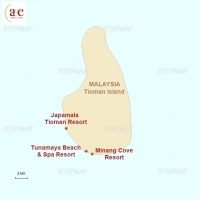 Routenkarte zur Reise Strandtage auf Tioman