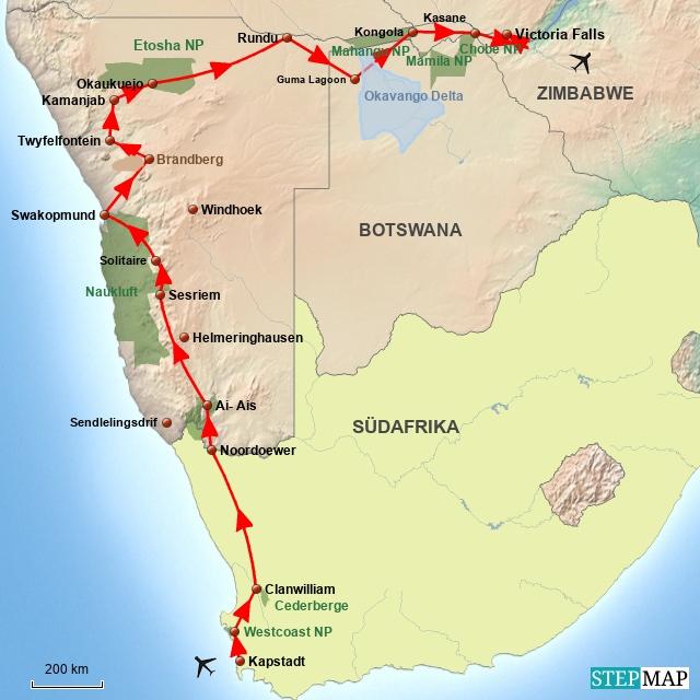SA Unterwegs durch Afrika